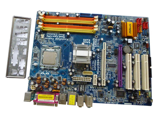 Mainboard Motherboard ASROCK 4Core1333-Viiv + CPU 2X 1,8 GHz