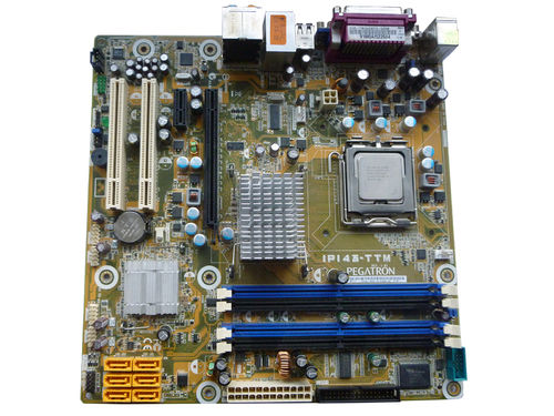 Mainboard Motherboard PEGATRON IPI43-TTM and Intel 2,6 GHz