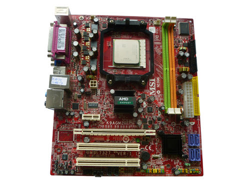 Mainboard Motherboard MSI K9AGM2 mit CPU 2 X 3 GHz