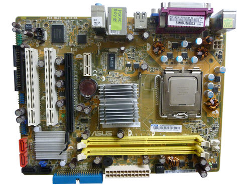 Mainboard ASUS P5GC-MX/V REV3.04G Motherboard und 2 X 2 GHz