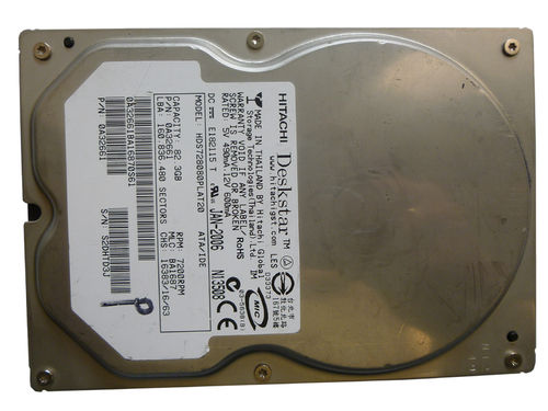 Hard drive HITACHI HDS728080PLAT20 82.3GB IDE 3.5 inches