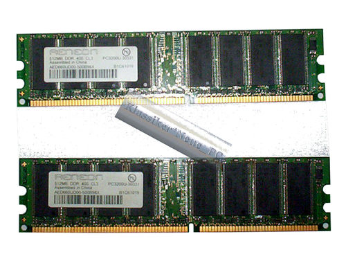 2 times 512MB Aeneon DDR1 AED660UD00-500B98X memory