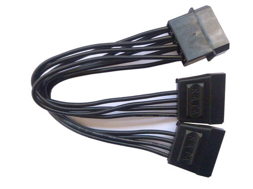 Inter.Molex > 2x SATA Power 14cm black poly Innovation IT