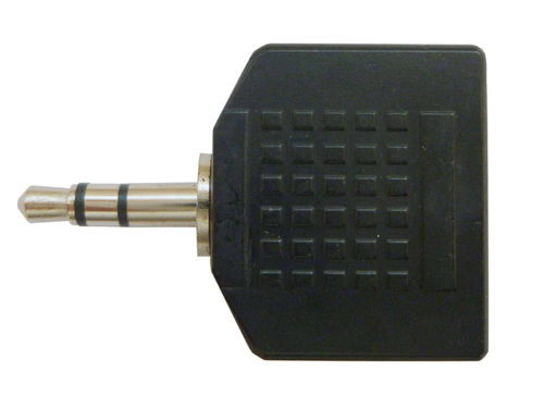 Audio Klinke 3,5mm (1x ST - 2x BU) Y Adapter