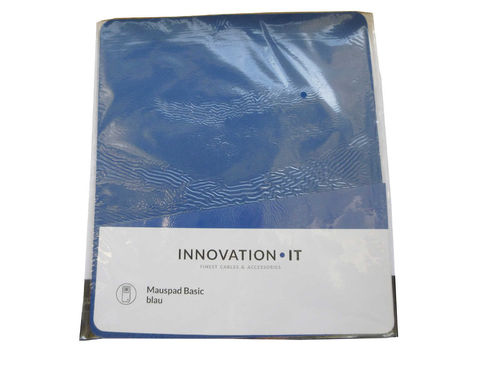 Mauspad Basic blue im Polybeutel Innovation IT Neu