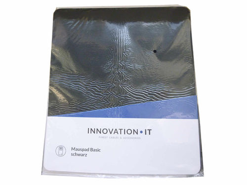 Mauspad Basic black Polybeutel Innovation IT Neu